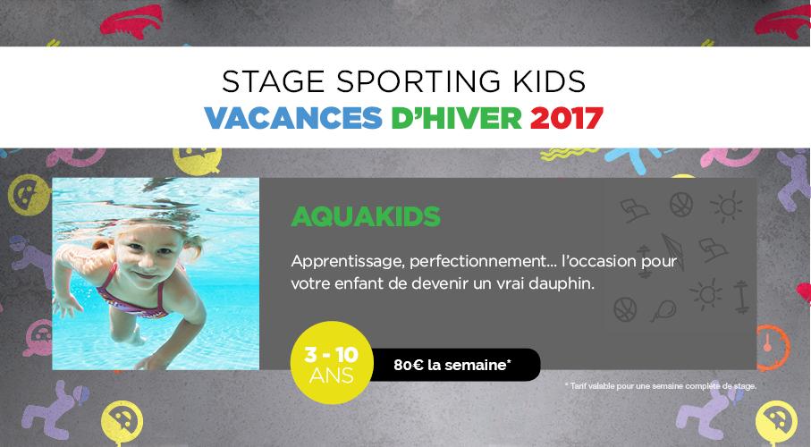 Inscrivez vos enfants au stage Aquakids de Sporting Form'